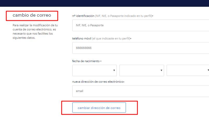 preguntas frecuentes | cambio correo confirmación