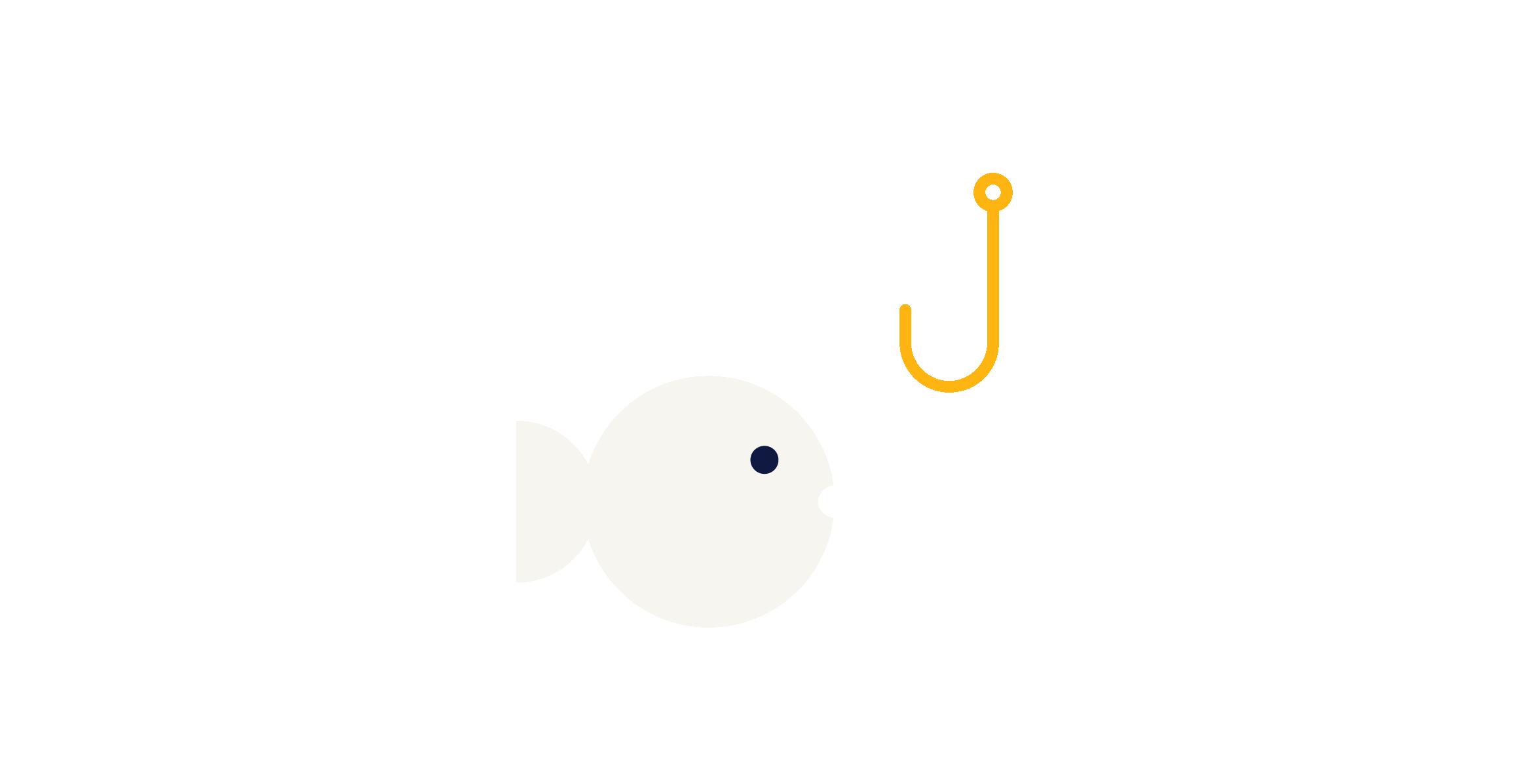 landing teleoperadores | ilustración pez | fondo turquesa