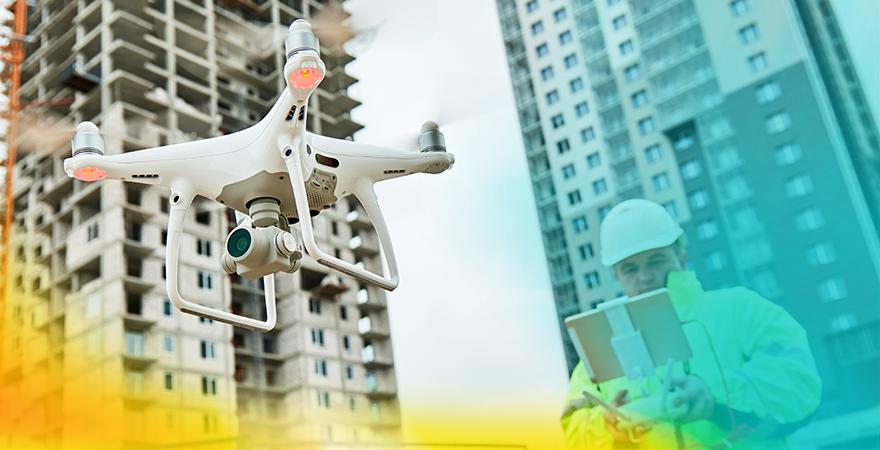 Los-drones-han-llegado-para-quedarse. Foto de un dron