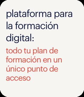 plataforma para la formación digital